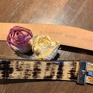 Dolce & Gabbana Patent Leather Snake Belt